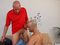 Bald gays taking their cocks