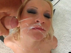 Sweet college girl takes miltiple good facial loads