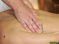 Tattooed babe massage