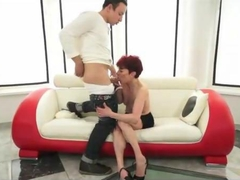 she is the one seducing him for a hot fuck