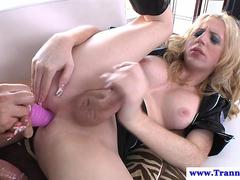 Amateur shemale assfucked and toyed