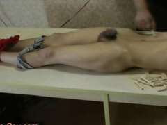 Slim Asian Slave Boy Got Pain Clips