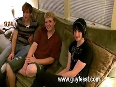 Aron, Kyle and James are hanging out on the sofa and ready to have