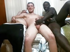Three Best Friends Go Gay And Cum On Cam