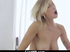 LustHD - Horny Euro Babe Swallows Huge Load!