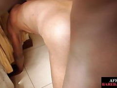 Nubian twink bareback fucked after cocksucking